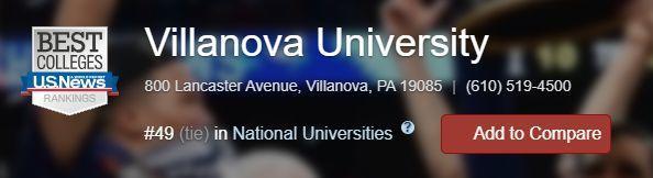 维拉诺瓦大学 Villanova University 转学指南