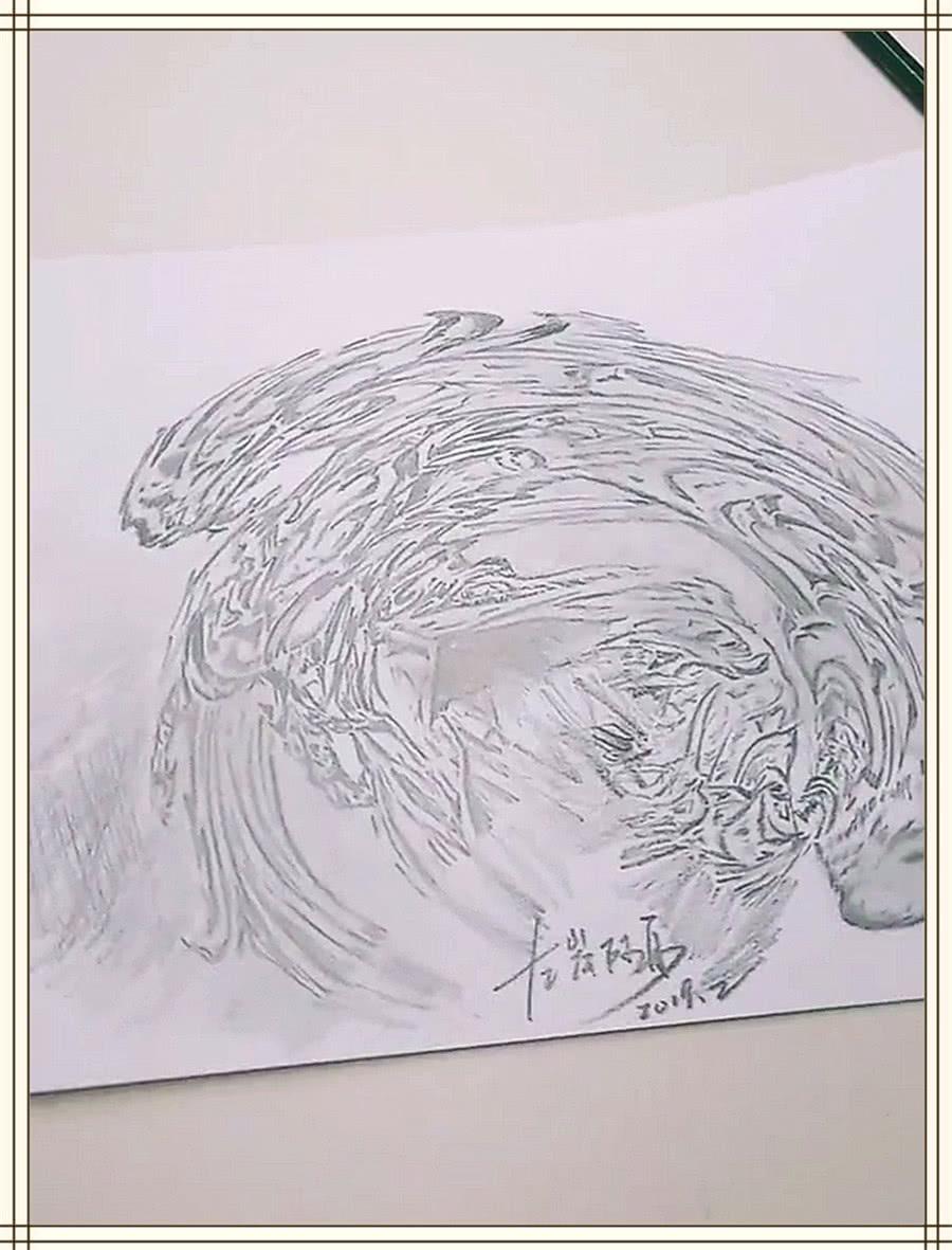 """美术生手绘白龙吟,开始被吐槽""""乱画"""",看到成画:王者中的青铜"""