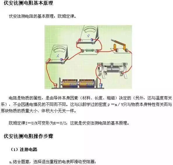 高考物理常考的五個電學實驗總結!