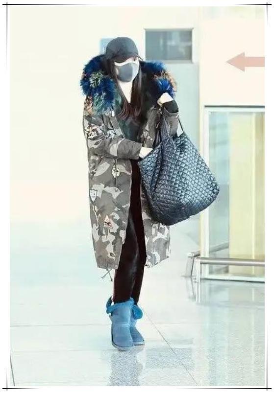 王艳终于高调一回,穿迷彩羽绒气场炸裂,阔太气质就是不一般!