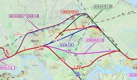 泰兴高铁规划图_北沿江高铁江苏段规划图曝光,黄桥设站,泰兴成为大赢家?_泰州
