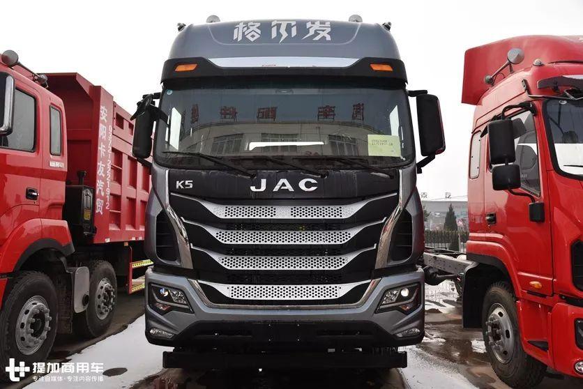 中国轨枕设计最新颖的重型卡车将为您展示江淮格尔发的旗舰K5拖拉机