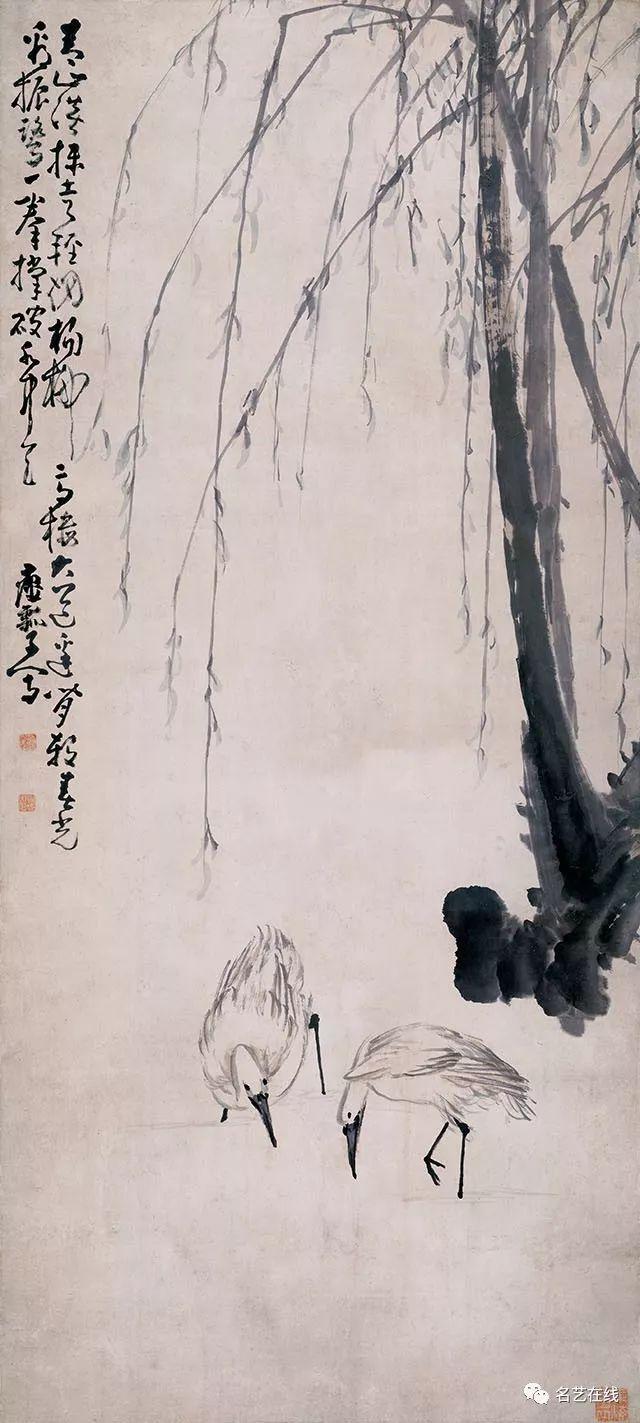 古今名家画笔下的柳叶青青,画中杨柳尽风流