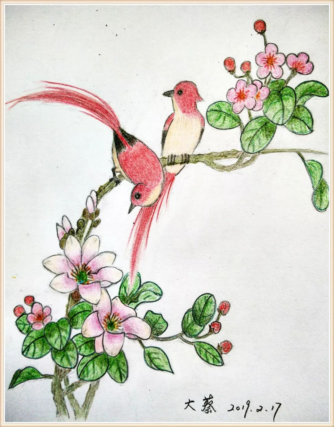 小年糕绘画训练营佳作来袭,鸟语花香,美到心醉