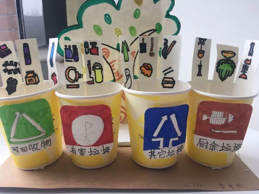 垃圾分类 我们在行动 随着生活水平提高,环保意识深入人心,学生也制作