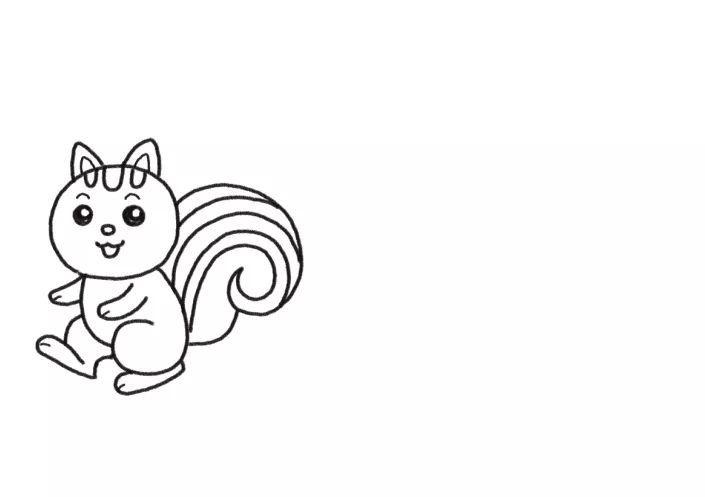 简单又可爱的简笔画 狮子和小动物