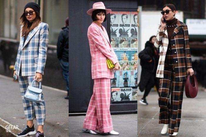 街拍示范:穿上格纹西装搭出复古风以外的时尚质感!