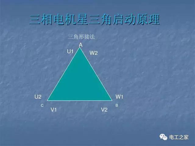 三相电动机绕组接法_三相异步电机六根线怎么接_三角形