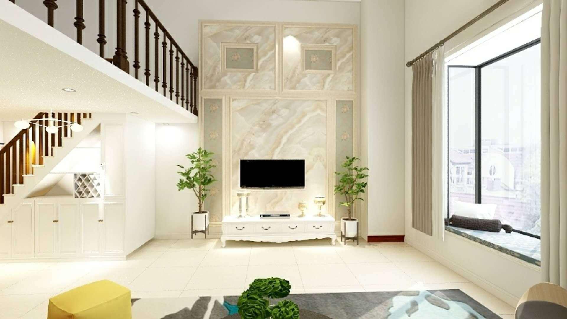 君泰中央公园公寓77平米复式公寓装修