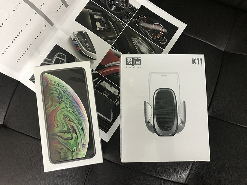 圆盾K11车载无线充电,苹果和华为车载无线充电