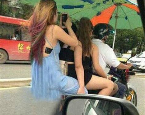 搞笑GIF:姜太公钓鱼愿者上伞