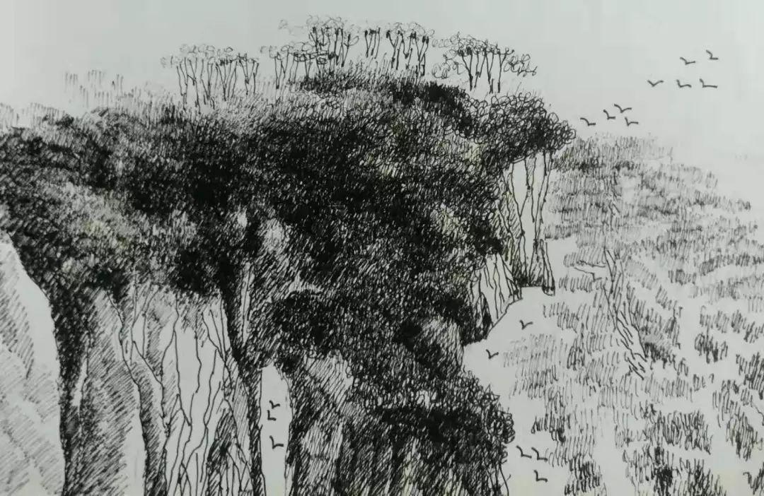 艺术 | 长安方僧的钢笔画,诉说着一种情怀,美得别有韵味!