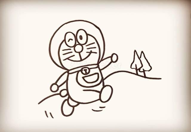 简笔画 机器猫
