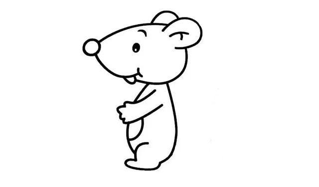 简笔画 小老鼠 这样画简单又好看 巧手教育