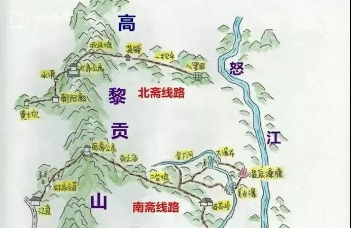 腾冲旅游景点地名地图
