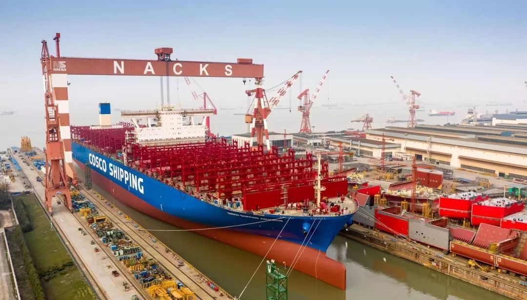 南通中远川崎第四艘2万箱集装箱船顺利出坞!