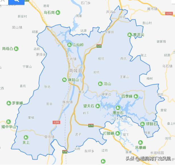 (南城县地图)图片