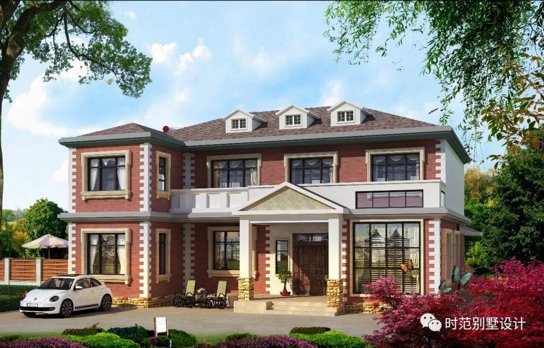 农村两层欧式小别墅,8卧带神位,适合农村大家庭生活图片