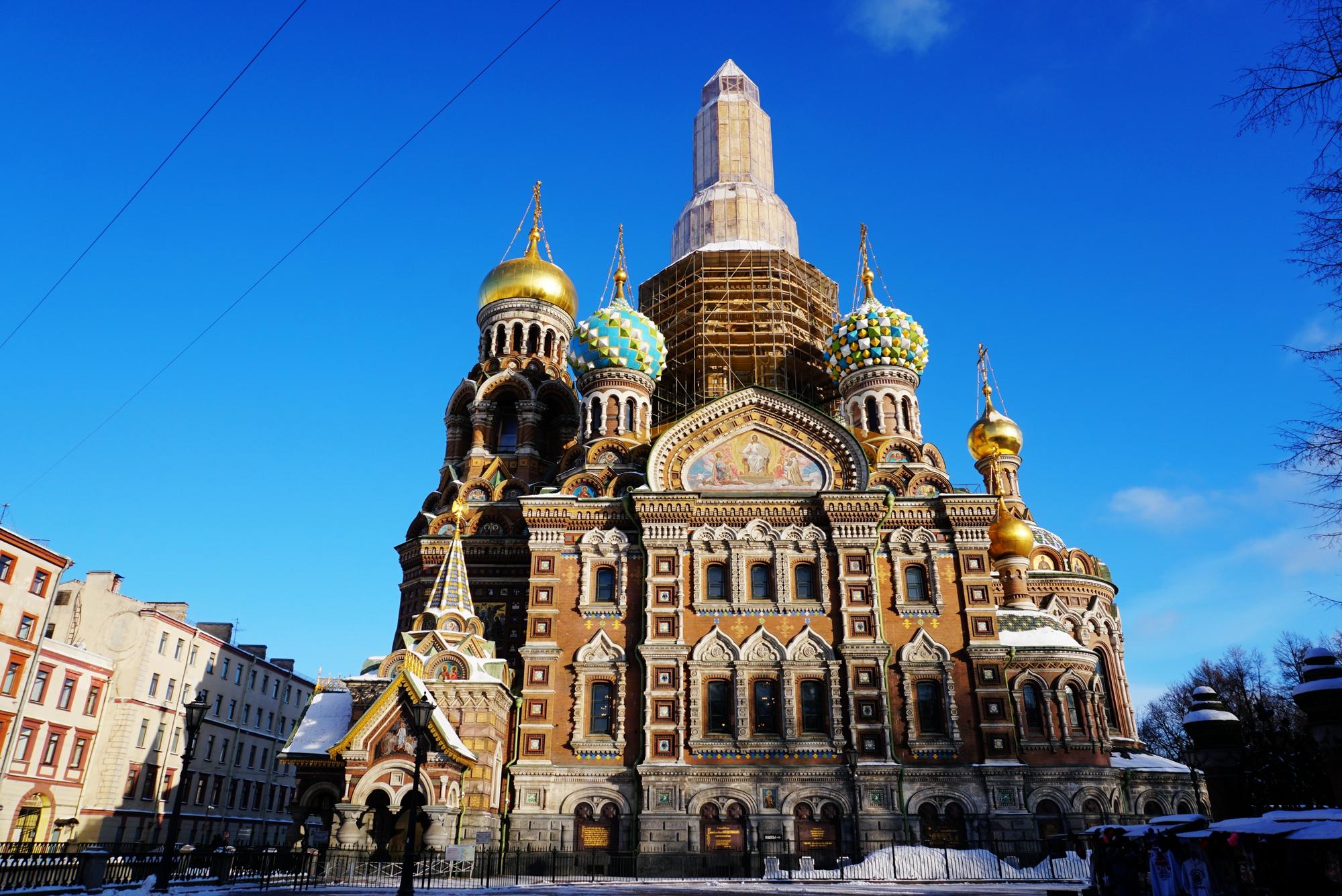 圣彼得堡滴血大教堂_在圣彼得堡被这座教堂美哭了_马赛