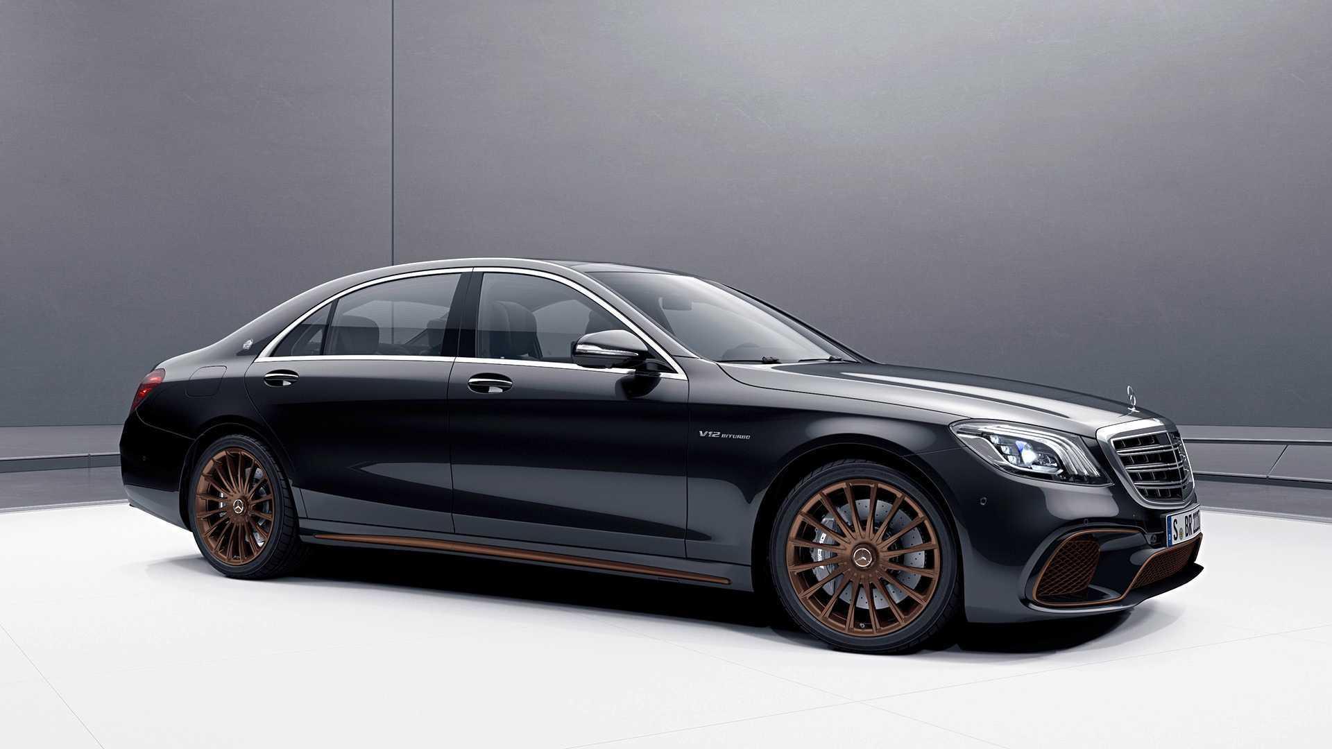 梅赛德斯 - AMG S65黑色和青铜色配色改装