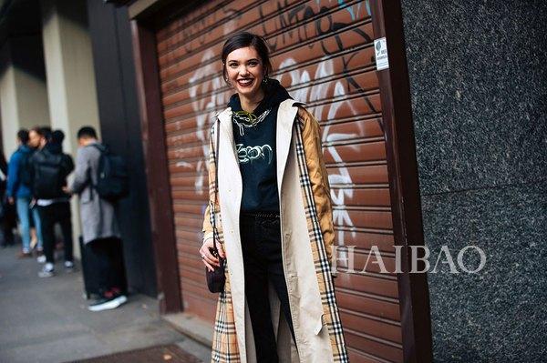 春天到了,不来件风衣吗?时装周街拍型人最爱穿的摩登风衣:款式花样格外多,会穿搭才够型!