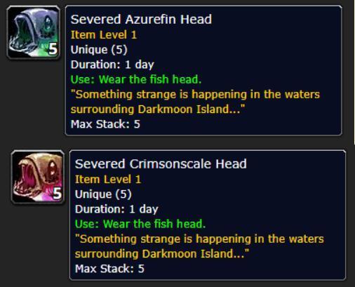魔兽世界8.1.5:暗月马戏团新增鱼头