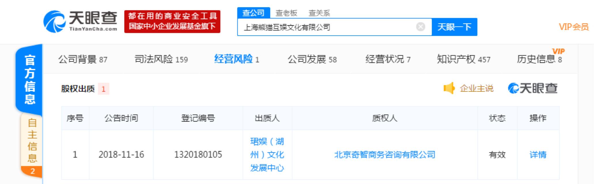 """熊貓直播下架 王思聰已質押持有股份給360系公司_袁夢"""""""