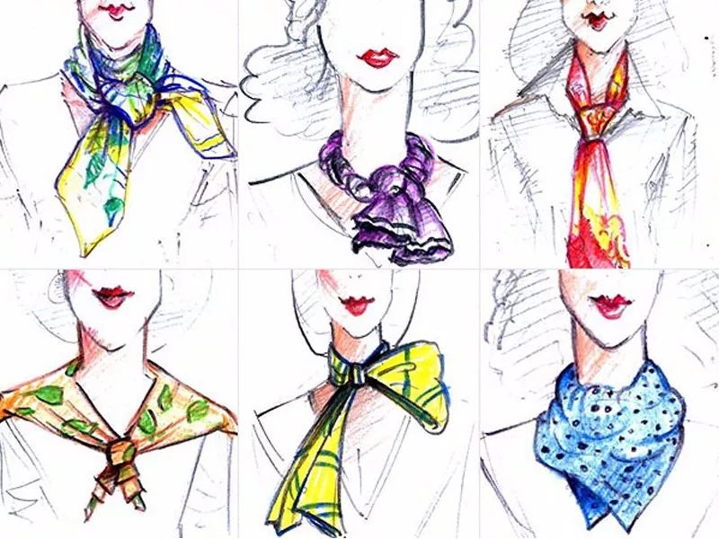 丝巾搭配图片 忍不住想告诉你,我用一条丝巾系出了7种花样