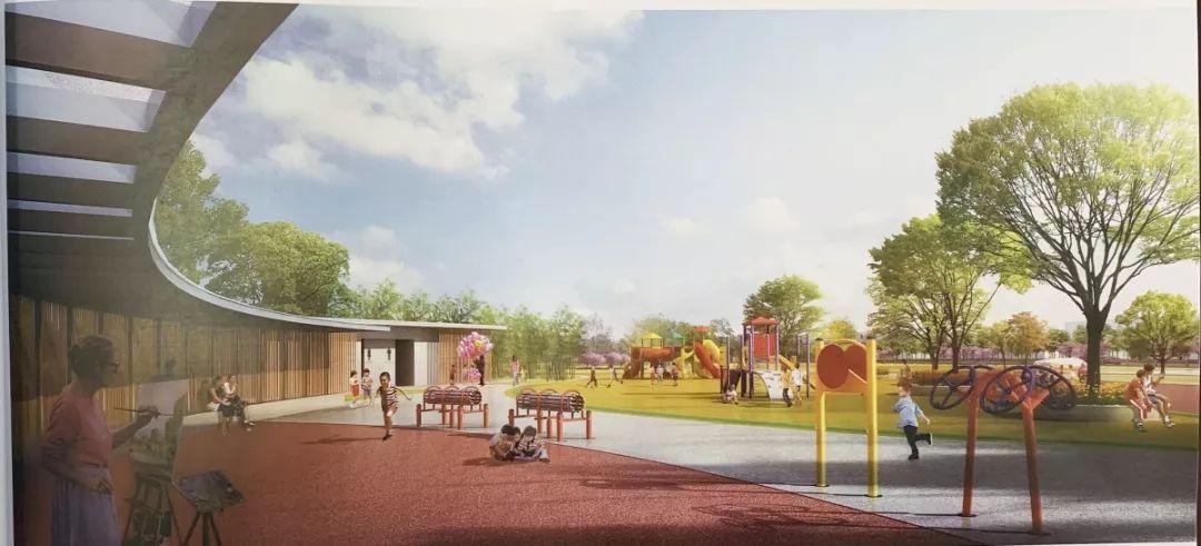 广场占地面积85550平方米,建成后游乐健身广场,休闲活动平面,树阵公园场地设计师下半年工作规划图片
