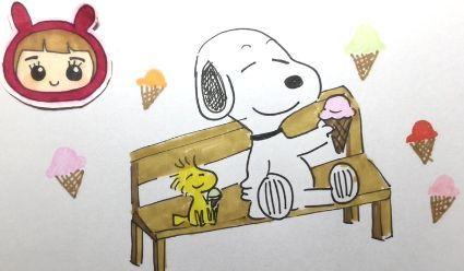 动漫绘画馆 史努比吃冰淇淋