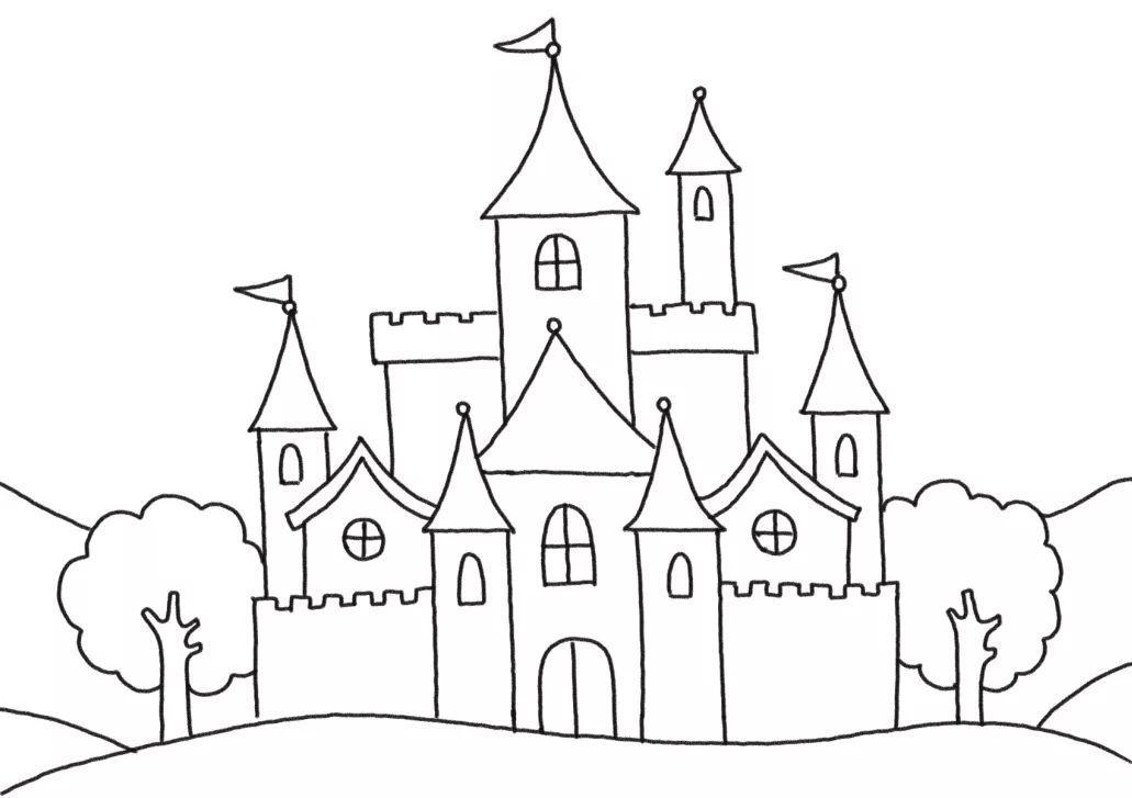 魔法世界简笔画 小仙女和魔法城堡
