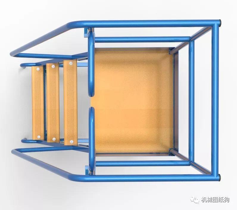 【工程机械】escabeau移动式人字梯架模型3d图纸 solidworks设计 附