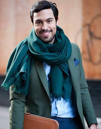 【男士丝巾的系法图解】男士丝巾最帅气的围法