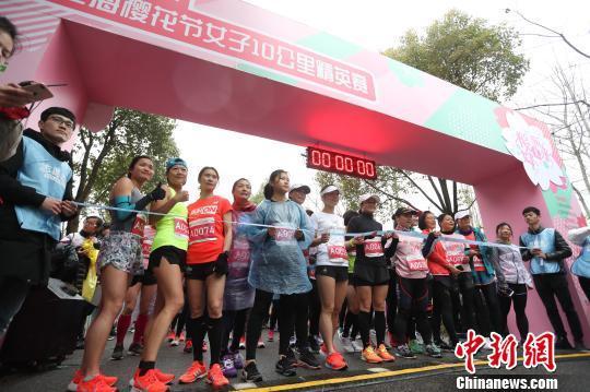 上海3000余名女跑者樱花林中靓丽开跑_张亨伟 体育新闻 第3张