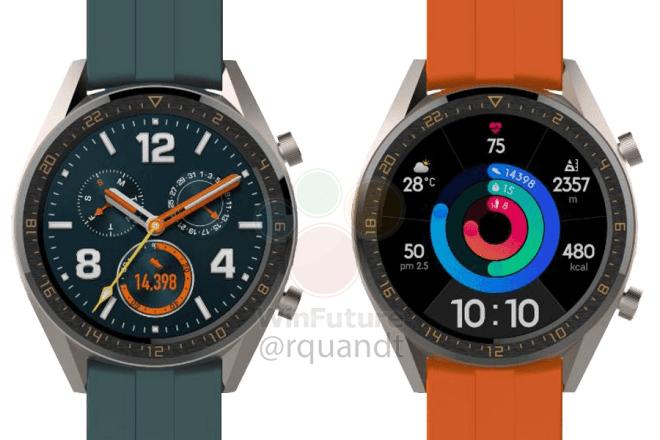 1729元起!华为两款全新智能手表曝光:和P30同台