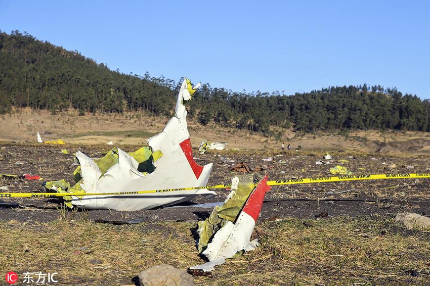 埃塞俄比亚航空坠机致157死 现场残骸碎片散落遍地
