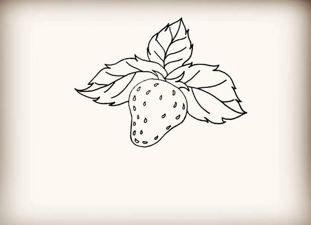 简笔画 草莓