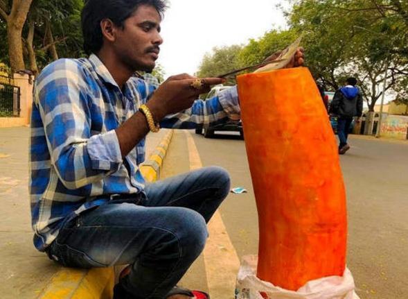 印度街头的这种奇葩水果怎么吃?重达上百公斤,甚至有人当主食(图4)
