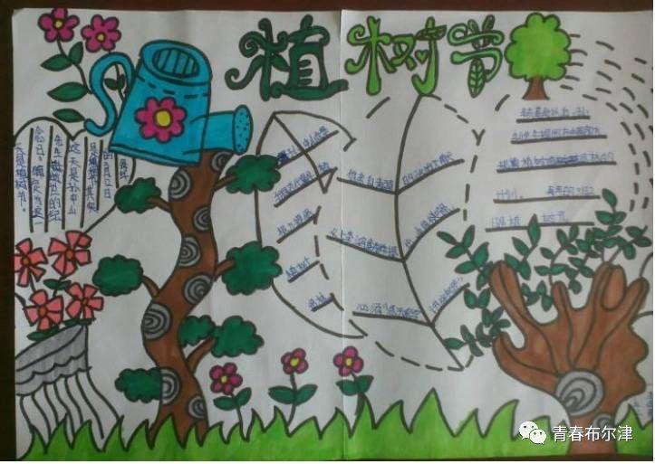 制作植树节争做绿色小使者手抄报.图片