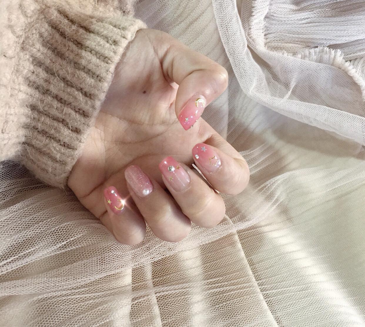 小仙女们的精致仙女风渐变美甲,浪漫的指尖太美妙啦!