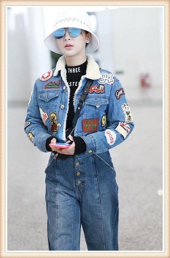 杨紫真会装,补贴牛仔装配高腰裤,167的身高活生生穿出187大气场