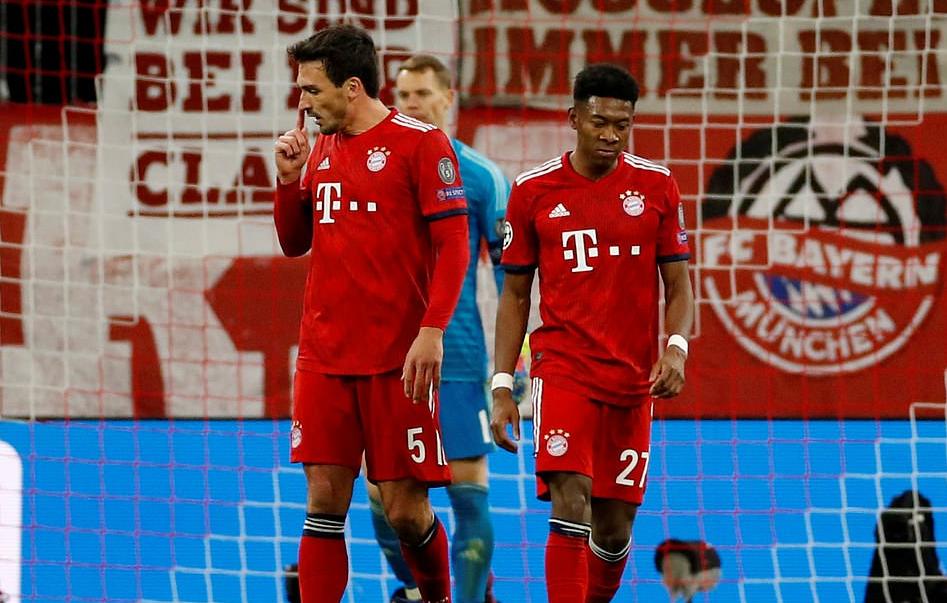 拜仁8年来首次无缘欧冠8强 德甲最后遮羞布掉落_本赛季 体育新闻 第1张