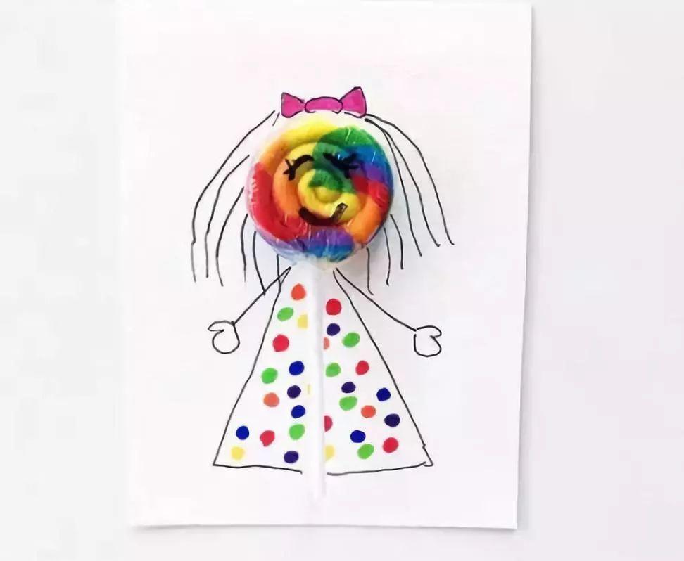 棒棒糖手工小人偶 有看书习惯的女生看过来,漂亮的动漫风女孩书签