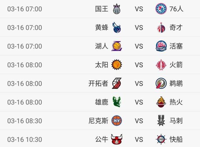 今日NBA8场对决_湖人vs活塞_火箭马刺雄鹿等出战_CCTV5直播这场