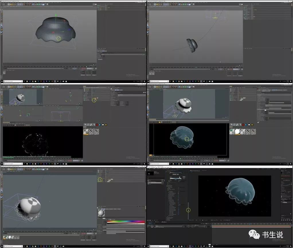 Cinema 4D使用Octane Vectron制作抽象分形动画教程含中文字幕_Render