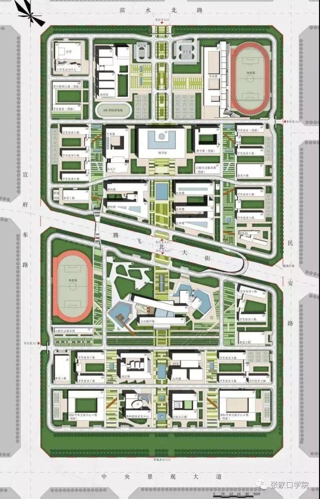 延安大学新校区平面图