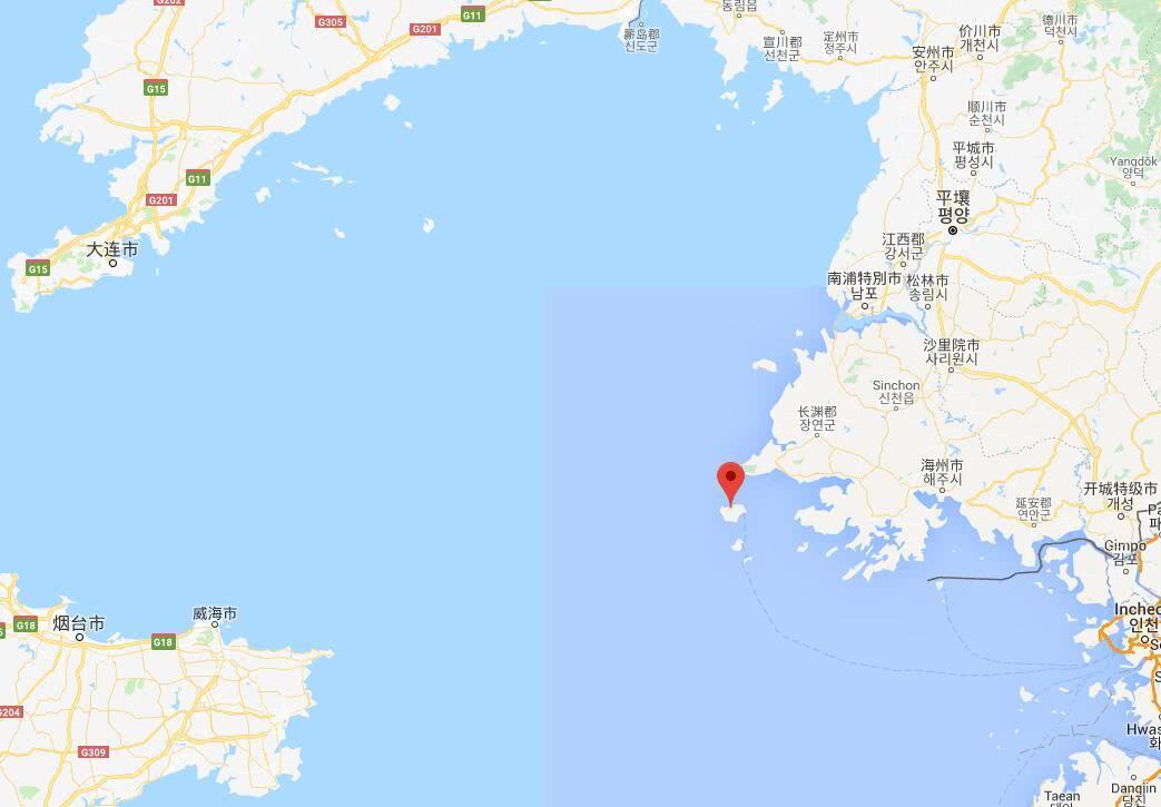 白翎岛位置 谷歌地图截图图片
