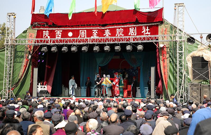 影像 农历二月初十古庙会 西安周至楼观就是这么热闹
