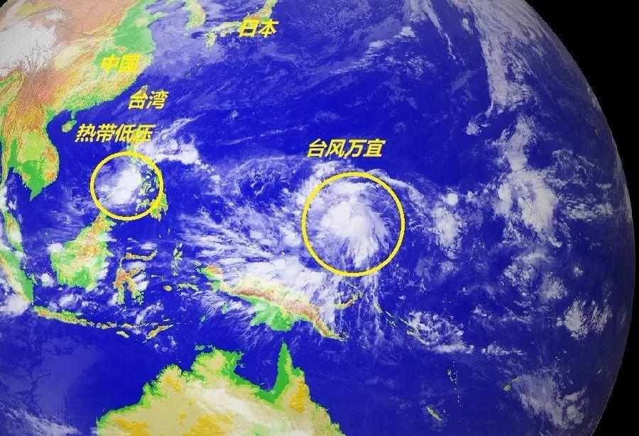 28号台风万宜已生成,29号台风即将生成,台风的双簧戏很快上演
