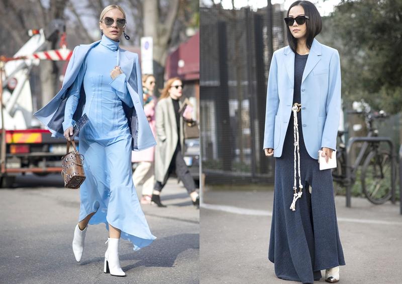 超级好搭的淡蓝色穿搭,春天给你清新自然的造型,少女心爆棚